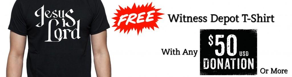 Free Witness Depot Shirt